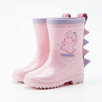Wholesale toddler water boots for sale - Group buy Rainboots Cartoon Dinosaur Rubber Rain Shoes Baby Little Kids Infant Toddler Water Shoes Waterproof Non slip Ankle Rain Boots