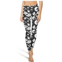 yoga capri pants al por mayor-Wisconsin Badgers Fútbol Fútbol Negro Pantalones de mujer Cierre elástico Pantalones de yoga Entrenamiento leggings de yoga Deporte estiramiento capri Legging