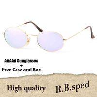 85a7cb2215 Luxury Brand Glass lens Metal Frame Oval Sunglasses men women Steampunk  Fashion Glasses Brand Designer Retro Sun glasses with original box