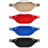 bolsos azules rojos al por mayor-Diseñador Bolso de cintura 18SS 44.o Bolsos de hombro Negro Rojo Azul Bronceado Titulares Bolsos Bolsos de cosméticos Estuches Bolsos de mensajero Mochilas