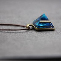Wholesale pyramid triangle necklace for sale - Group buy LIEBE ENGEL Charm Crystal Glow In The Dark Necklace Pyramid Pendant Space Star Triangle Geometric Luminous Necklace For Women