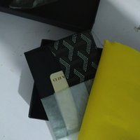 Wholesale vintage designer ties for sale - Group buy 2020 Male Goya Y Dot Designer Classic Luxury Famous Men Women Gy Credit Card Holder Coated Canvas with Real Leather Pocket Mini Wallet bag