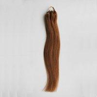 enlaces de soporte al por mayor-Cabello humano 100% 1g / soporte 100 piezas 100% humano Micro Bead Links Extensiones rectas de cabello Remy