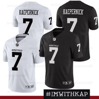 6ddff04c7fa COLIN KAEPERNICK 7 IMWITHKAP JERSEY I M WITH KAP Mens Black White Double  Stiched Name And Number High Quanlity Football Jerseys