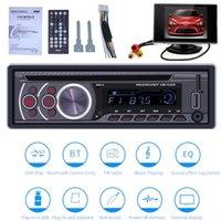 arabalar için müzik dvd'leri toptan satış-Araba CD DVD VCD Oynatıcı + Araba Ekran Bluetooth 4.0 Handsfree FM Radyo Video Çıkışı Müzik DVD Oynatıcı / USB / AUX / TF LCD Oto