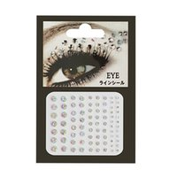 Wholesale face mask rhinestones resale online - Body Face Jewels Crystal Temporary Eyes Sticker Festival Party Mask Glitter Stickers Flash Rhinestones Nail Art Decorations