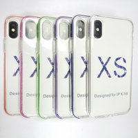 Wholesale iphone clear silicon online - TPU Soft Case Cell Phone Clear TPU Silicon Case Back Cover with Colored frame for Iphone s plus plus X XS XR XS MAX