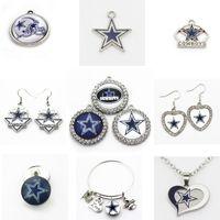 ingrosso piccoli fascini d'argento di pesce-Charms US Football team Cowboys ciondolano fascini del pendente di sport fai da te collane di fascini dei monili Hanging