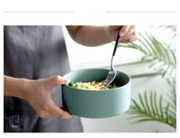 assiettes à dîner pour les mariages achat en gros de-Nordic creative glaçure mate en bambou étagère bol à salade bol de fruits occidental bol à dessert bol de nourriture occidentale céramique support vaisselle mixte lot