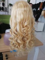 Wholesale braided human hair lace wigs for sale - Group buy Pre Plucked Blonde Full Lace Wig Human Hair Malaysian Wavy Braided Wigs Cheap Loose Wave Glueless Blonde Lace Front Wig For Black Women