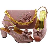 9e58435b5 Nova Chegada Sapatos Italianos e Saco de Harmonização Definir Nigeriano  Sapatos de Casamento Das Mulheres e Saco Conjunto de Bombas de Festa  Mulheres ...
