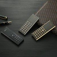 kamera-handy schwarzes gold großhandel-Neu Kommen Unlocked V01 Luxus Gold Schwarz Metallgehäuse Gehäuse Handy Dual SIM-Karte Handys Bluetooth FM Mp3 Kamera Handys