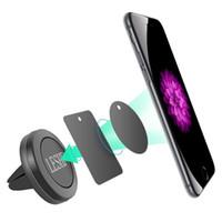 7 'gps montiert großhandel-Autohalter Mini Air Vent Mount Magnet Magnet Handyhalter Universal Für iPhone 5 6 6s 7 GPS Halterung Ständer Unterstützung