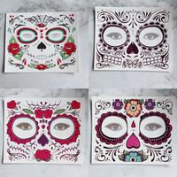göz çıkartması göz farı toptan satış-Tek kullanımlık Göz Farı Sticker Sihirli Göz Yüz Dantel Tarzı Güzellik Makup Sahne Cadılar Bayramı Partisi Için Su Geçirmez Geçici Dövme RRA1708