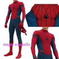 traje de hombre xxl al por mayor-Final Avenger Spider-Man Homecoming Cosplay Traje 3D Spiderman estampado