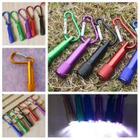 mini yenilik el feneri toptan satış-Yeni Alüminyum alaşım mini LED el feneri güçlü ışık fener anahtarlık kamp balıkçılık fener el fener yenilik öğe T2I5105