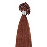Wholesale keratin nail fusion human hair extensions resale online - 500g pack U Nail Tip Pre bonded Fusion Hair Extensions Body Wave strands pack Keratin Stick Brazilian Human Hair Brown Color