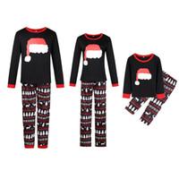 conjuntos de pijamas de navidad familiar al por mayor-Conjuntos de pijamas de Navidad a juego con la familia Pantalones cortos y largos Ropa de dormir Conjuntos de pijamas Homewear