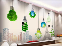 Wholesale heat bulbs for sale - Group buy 3d room wallpaper custom photo mural Creative light bulb Nordic European TV background wall home decor wall art wallpaper for walls d