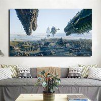 Wholesale fashion fantasy game for sale - Group buy Game of Thrones The Epic Fantasy Series Season Canvas Painting Print Living Room Home Decor Wall Art Oil Painting Poster Salon Picture