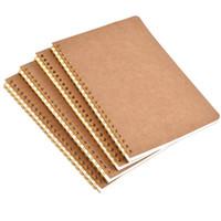 Wholesale spiral notebook a5 resale online - New hot sale A5 kraft paper cover notebook dot matrix grid coil school office business diary notebook office supplies