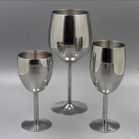 ingrosso fascini bicchieri di vino-2 pz Classici Bicchieri In Acciaio Inox 18/8 Bicchiere da vino Bar Bicchiere da vino Champagne Cocktail Bere Charms Rifornimenti del partito Q190525