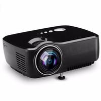 mini proyector usb accionado al por mayor-GP70 Mini Full HD 1080P LED Proyector de cine en casa Cine en casa Multimedia VGA AV (Android 4.4 Bluetooth opcional WIFI)