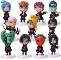 coleção pvc japão venda por atacado-Naruto Sasuke Uzumaki Kakashi Gaara Ação Com Figuras de montagens funko pop Japão Anime Coleções Presentes Crianças Brinquedos