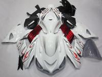 carenados de zx blanco al por mayor-Blanco w / Llama kit del carenado para Ninja ZX 14R 2006 a 2011 2007 2008 2009 2010 ZZR1400 ZX 14