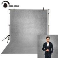 fondos personalizados impresos por computadora al por mayor-Allenjoy gris color puro viejo maestro fotografía telones de fondo resumen impresión en computadora retrato personalizado estudio fotográfico de fondo
