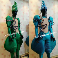 Wholesale club singer clothing online - P32 Party cosplay wears bodysuit dj catwalk performance show dress dance stage costumes model dress jumpsuit singer clothing bar outfit club