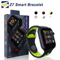 лучшие часы mp4 оптовых-Z7 Smart Watch фитнес-трекер Браслет пульса SmartWatch Монитор IP68 Водонепроницаемый Шаг для яблочных часов PK DZ09 IOS Android смартфон