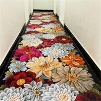 tapetes de banheiro azul venda por atacado-3d criativo tapete de porta da flor tapete da planta Corredor Tapetes Quarto Sala Mesa Tapetes de Cozinha Casa de Banho Antiderrapante Mats30