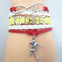 kc schmuck großhandel-Schmuck Unendlichkeit Liebe Kc Chiefs Football Team Armband Maßgeschneiderte Armband Freundschaft Armbänder B09169