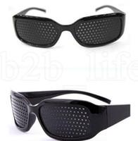 épingles de lunettes achat en gros de-Soins unisexe sténopé Eyesight Lunettes anti-fatigue unisexe lunettes Sténopé lunettes lunettes anti-fatigue Vision Améliorant KKA7568