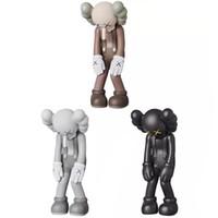 bonecas collectible da porcelana venda por atacado-Originalfake 28 cm / 11 polegadas Boneca Designer Figuras KAWS Longo nariz masculino Curvar sobre figuras de ação original brinquedo Falso para as crianças C6597