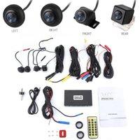 ingrosso sistemi dvr per auto-720P HD macchina fotografica dell'automobile DVR 360 Surround View Camera System registratore di guida di accessori per auto metallo Remote Controller