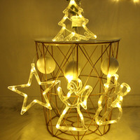 Wholesale garland navidad for sale - Group buy Christmas Decorations for Home Bell Snowman Tree Ornaments Window Suction Cup String Lights New Year Christmas Garland Navidad