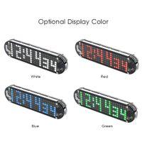 alarme de data venda por atacado-DS3231 Alta Precisão DIY Digital Matriz Dot LED Alarm Clock Kit com Caso Transparente Temperatura Data e Hora de Exibição