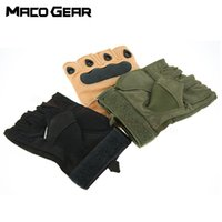 Wholesale gloves military for sale - Group buy Outdoor Tactical Fingerless Gloves Military Army Shooting Hiking Hunting Climbing Cycling Gym Riding Airsoft Half Finger Gloves high quality