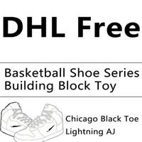 série mini brinquedos de bloco venda por atacado-Balayle atacado pequeno diamante bloco mini bloco de construção de tênis de basquete série brinquedo educacional sapatilhas enigma brinquedos dhl livre