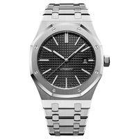 reloj mecanico de zafiro al por mayor-mens relojes mecánicos automáticos de lujo clásico de 42 mm de estilo lleno de acero inoxidable relojes de pulsera correa superior calidad de zafiro súper luminosa