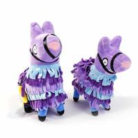 ems oyuncakları toptan satış-2019 yeni 20 cm / 8 inç Karikatür alpaka peluş oyuncaklar Anime çocuklar için alpaka Dolması Hayvanlar doğum günü hediyesi EMS C6672