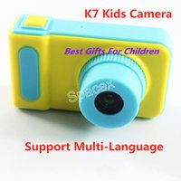 Wholesale Retail K7 Kids Camera Mini Digital Kids Camera Cute Cartoon Kids Toy Children Birthday Gift With Support Multi Language