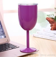 Wholesale keyboard red resale online - 10oz stianless steel wine glasses mental stemless tumbler goblet red wine glasses with lids cup solid colors DIY cup colors in stock