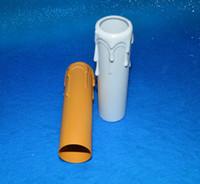 candelabros de plástico al por mayor-Tubo de vela de goteo de plástico para bombilla de luz de la lámpara cubre la manga 100 mm * 25 mm para sala de estar dormitorio cocina envío gratis