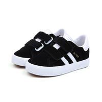 estudante crianças venda por atacado-Crianças sapatos de lona grandes meninos formadores sapato meninas da moda sapatos de estudante sapatilha preta para as crianças
