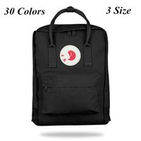 fuchs handtaschen großhandel-Hochwertige Designer Swedish Fox Student Rucksack 30 Styles Design Teenagner Canvas Schoolbag Rucksack Sport Handtasche