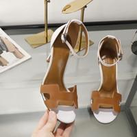 croix en bois de sandales achat en gros de-2019 sandales à talons et cuir véritable sandales élégantes parfaites chaussures de qualité