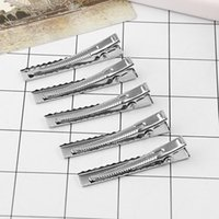 Wholesale hair accessories resale online - 10PCS Pack Girl Women Hair Clips New Fashion mm mm Flat Hair Bows Metal Clips DIY Single Prong Aligator Accessories
